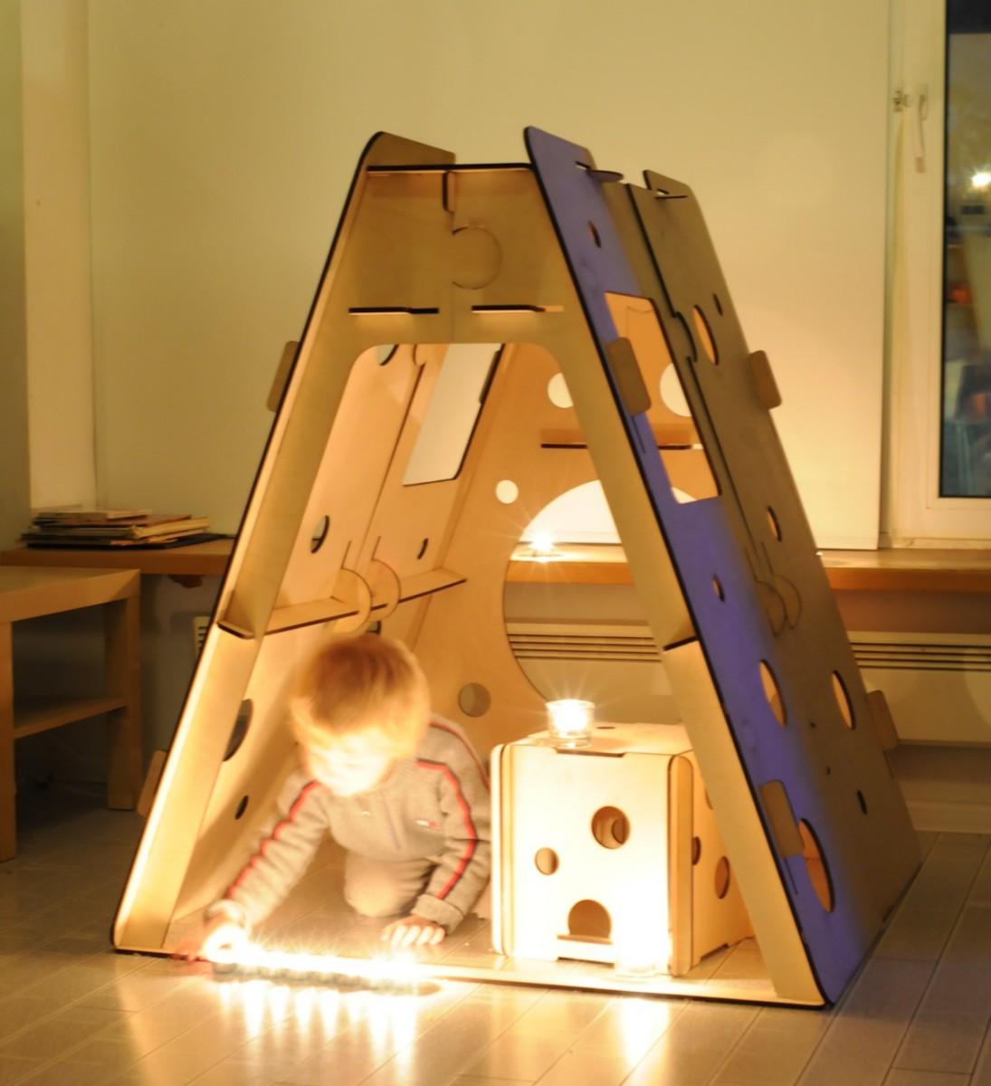 Домик для детей своими руками. Фото. Складной домик для детей 61
